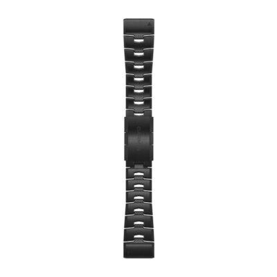 VENTED TITANIUM BRACELET. carbon gray dlc